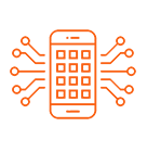 Smartphone icon image for mobile app development